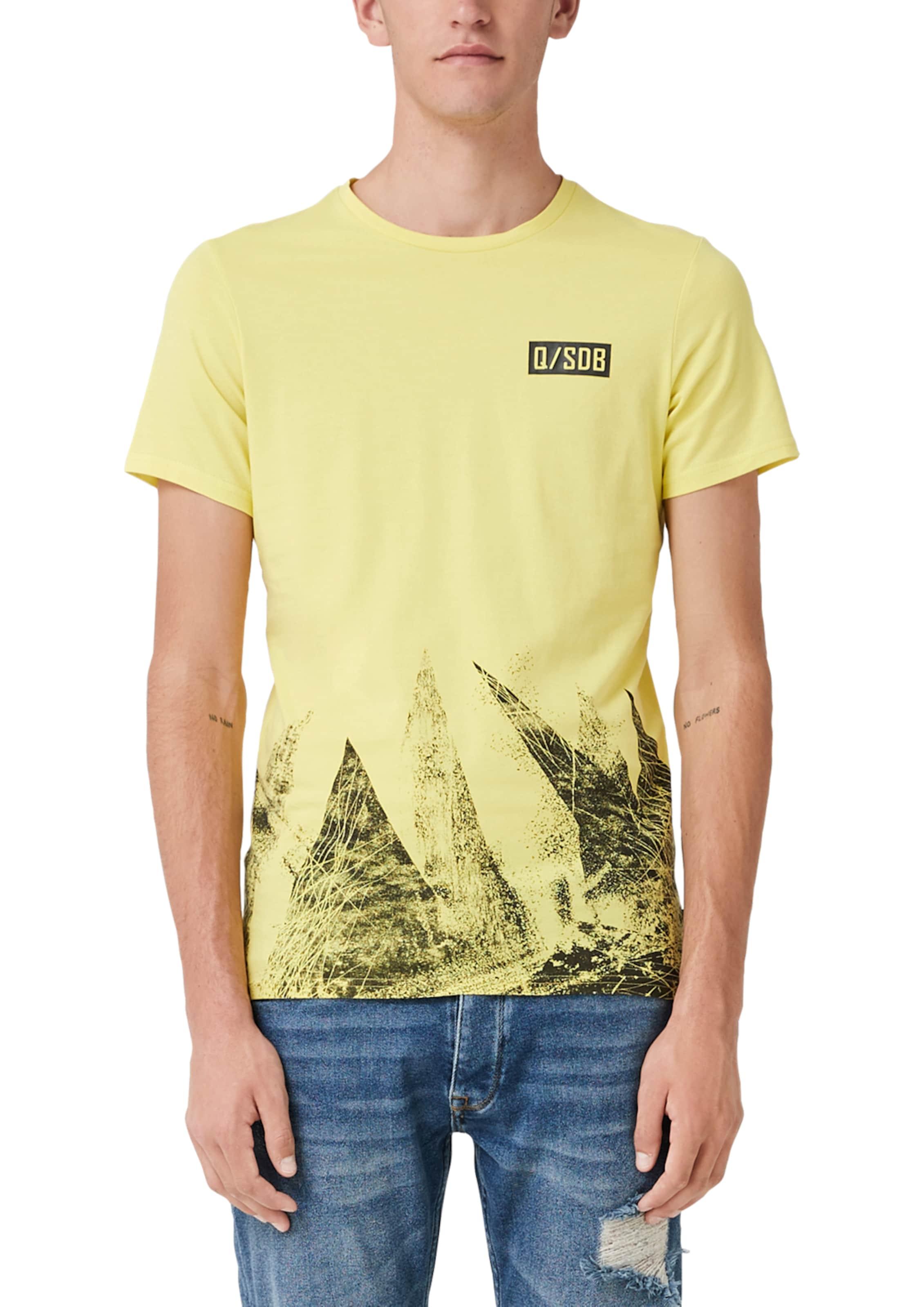 Designed In Mit shirt Frontprint T Gelb s By Q 80wmNn