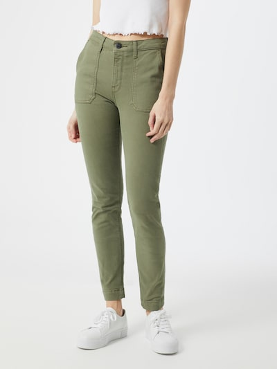 Lee Jeans 'Scarlett High' in de kleur Groen, Modelweergave