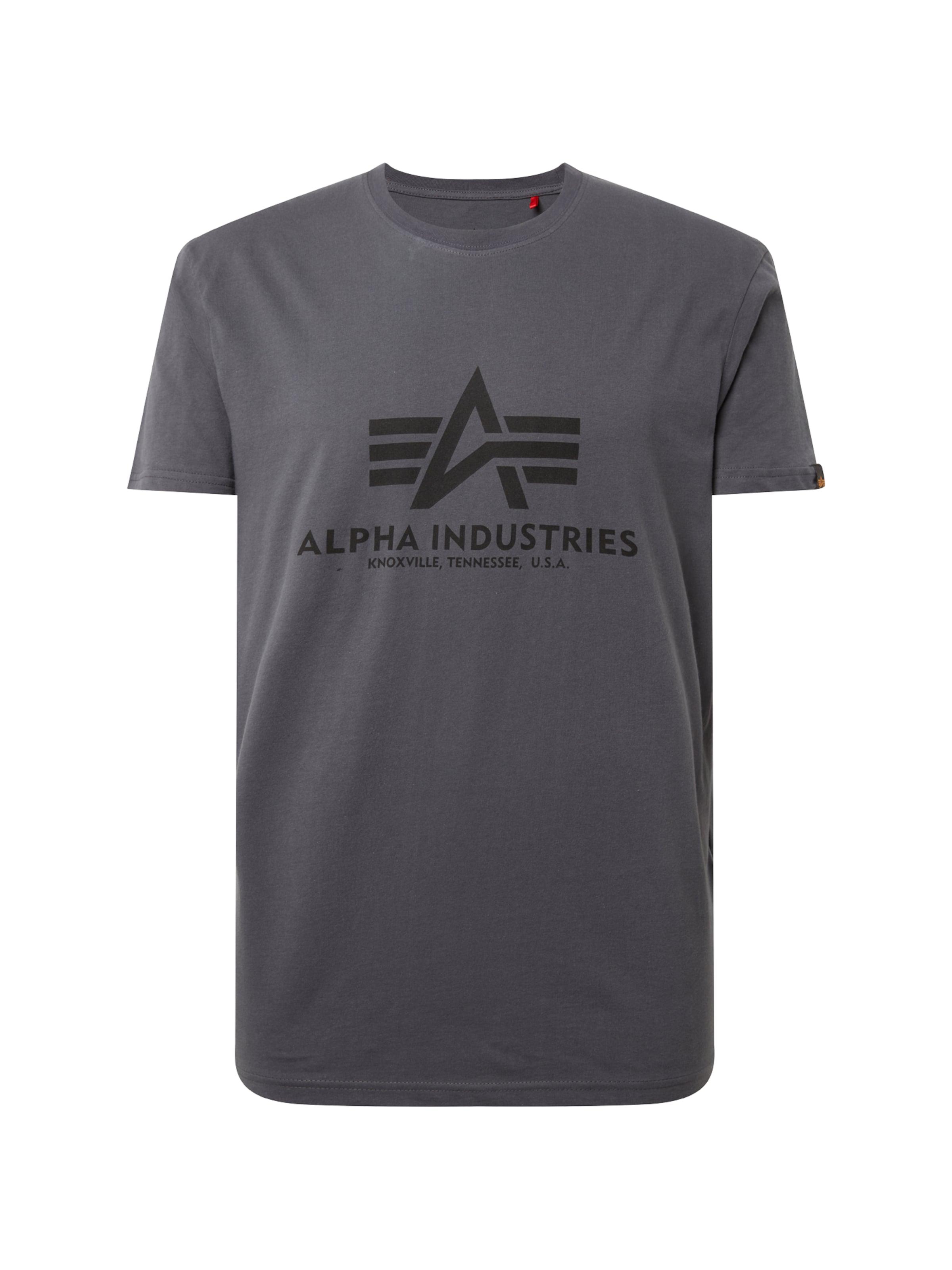 Alpha Industries In DunkelgrauSchwarz shirt Print NOvnmwy80