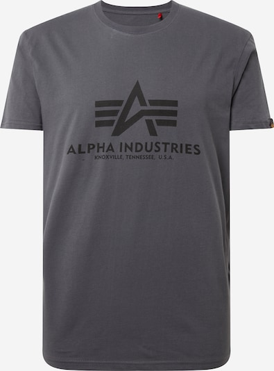 ALPHA INDUSTRIES Print-Shirt in dunkelgrau / schwarz, Produktansicht