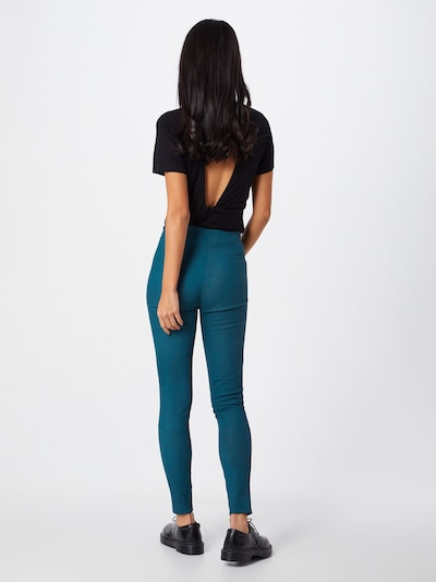 Pantaloni 'Nori Buffed' tigha pe turcoaz: Privire spate