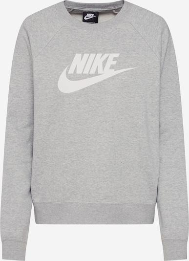 Nike Sportswear Sweatshirt 'Essntl' in grau / weiß, Produktansicht