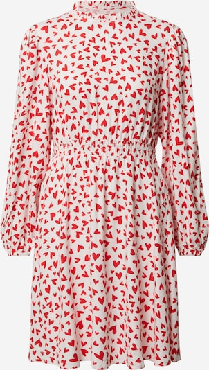 VILA Kleid  'VIHEART L/S SHORT DRESS /RX' in rot / offwhite, Produktansicht