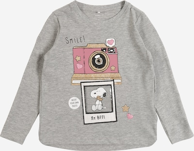 NAME IT Shirt 'SNOOPY' in graumeliert, Produktansicht
