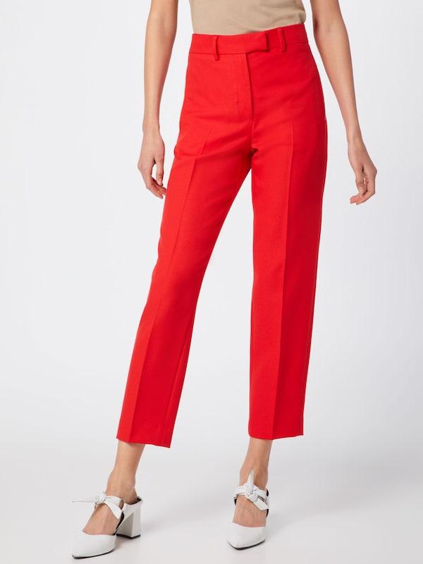 À Cigarette En Klein Twill Calvin 'uniform Rouge Plis Pant' Pantalon deCBox