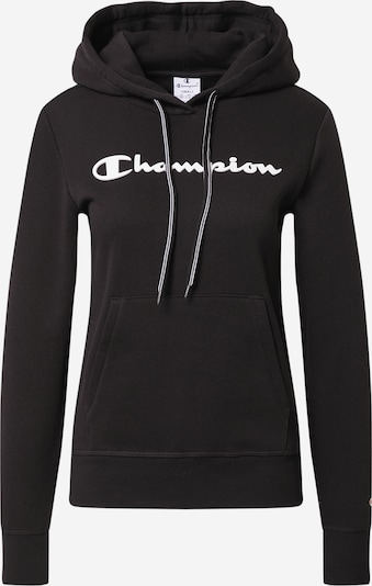 Bluză de molton Champion Authentic Athletic Apparel pe negru: Privire frontală