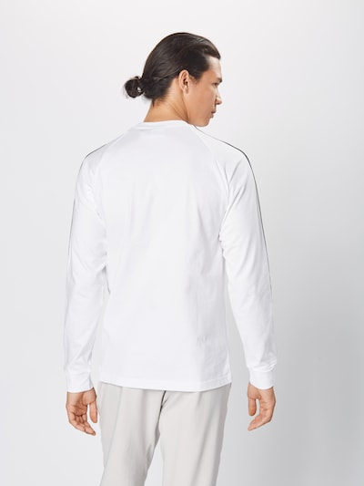 ADIDAS ORIGINALS Sweat-shirt en noir / blanc: Vue de dos