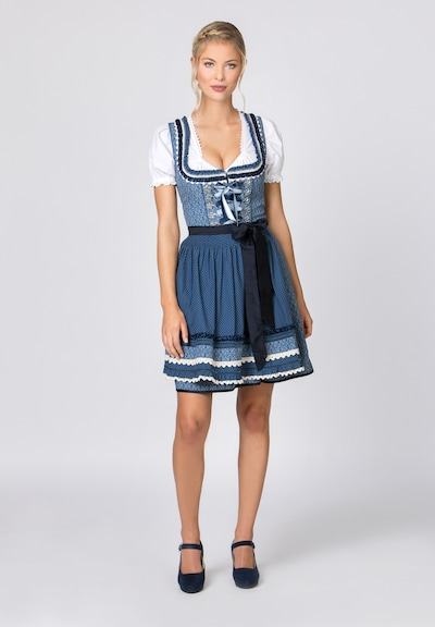 STOCKERPOINT Dirndl 'Angelica' - modrá, Model/ka