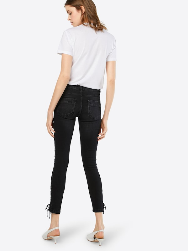 Urban Classics Jeans 'Ladies Denim Lace Up Skinny Pants'