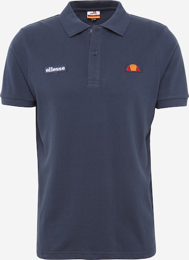 ELLESSE Shirt 'Montura' in de kleur Donkerblauw / Lichtoranje / Wit, Productweergave
