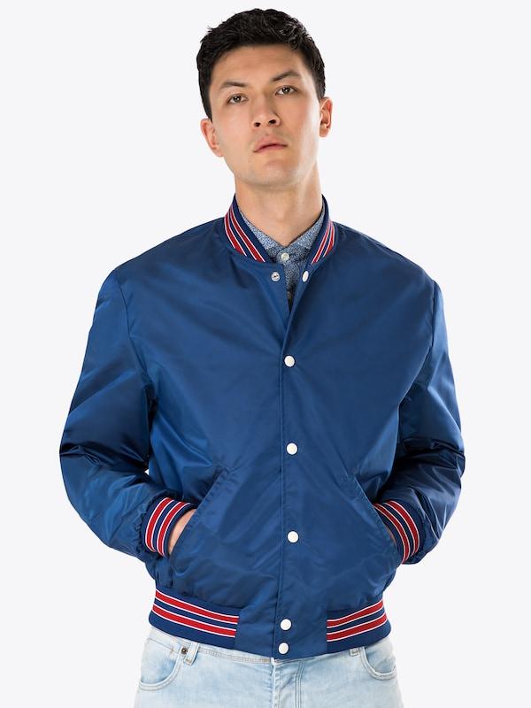 Bleu Foncé Mi Jacket Ribbing' saison En Kooples 'blouse With Three The Veste colour AjL5q4Rc3S
