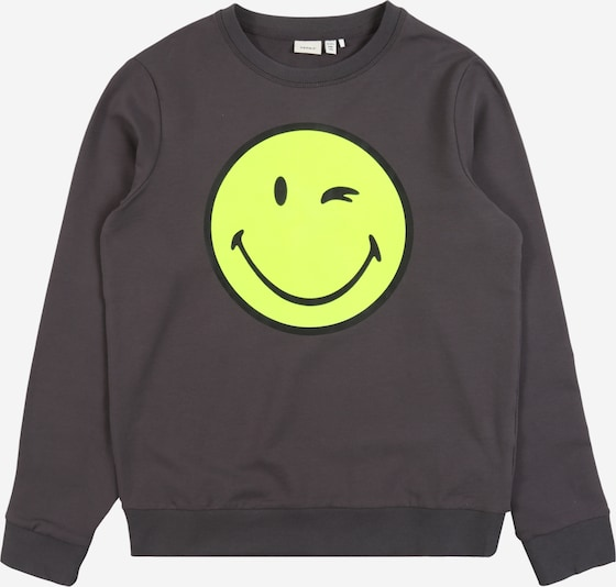 NAME IT Sweatshirt 'NKMHAPPY ' in anthrazit, Produktansicht