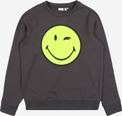 NAME IT Sweatshirt 'NKMHAPPY ' in de kleur Antraciet, Productweergave