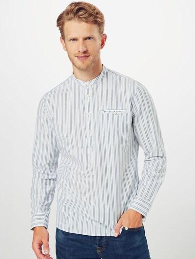 BURTON MENSWEAR LONDON Košile 'LS WHT ORG OVRHD STP' - světlemodrá / bílá: Pohled zepředu