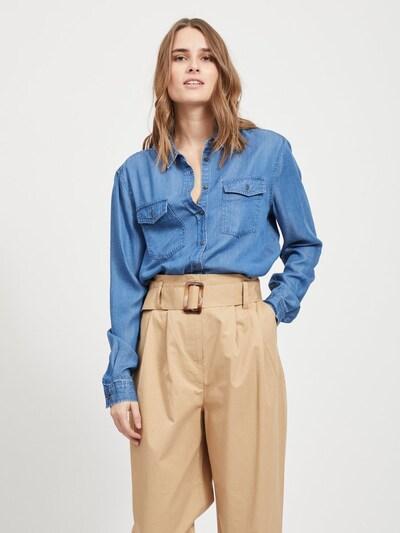 OBJECT Jeanshemd in blue denim, Modelansicht
