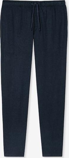 SCHIESSER Lange Pyjama-Hose Mix & Relax in blau: Frontalansicht