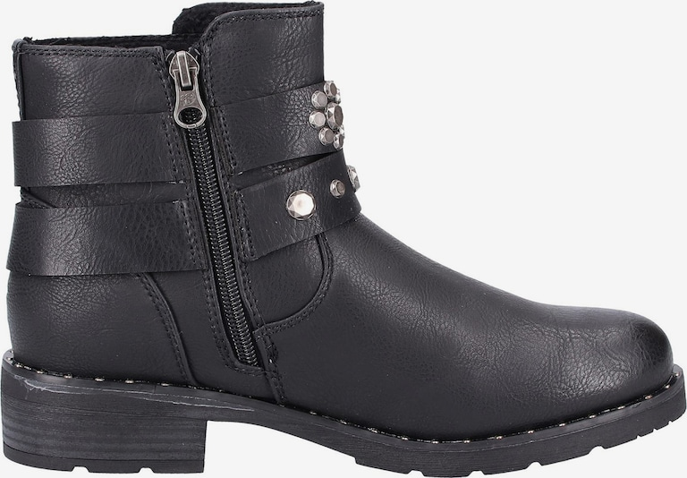 TOM TAILOR Biker Boots in schwarz ydfGvP5c