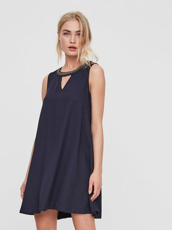 VERO MODA Detailreiches Kleid ohne Ärmel