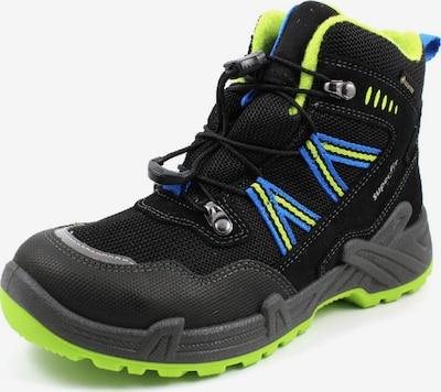 SUPERFIT Stiefel in blau / neongrün / schwarz, Produktansicht