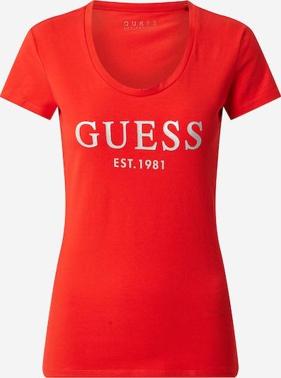 GUESS T-Shirt 'SS CN MINI LOGO TEE' in rot, Produktansicht
