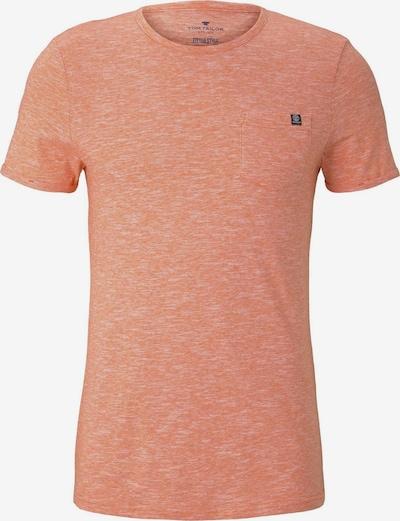TOM TAILOR Shirt in pastellorange / weiß, Produktansicht