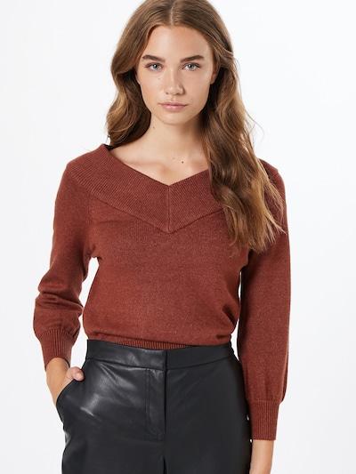 JACQUELINE de YONG Pullover 'Shanon' in bordeaux, Modelansicht