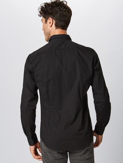 Dalykiniai marškiniai 'N SoliSt Po lsl' iš ESPRIT , spalva - juoda: Vaizdas iš galinės pusės