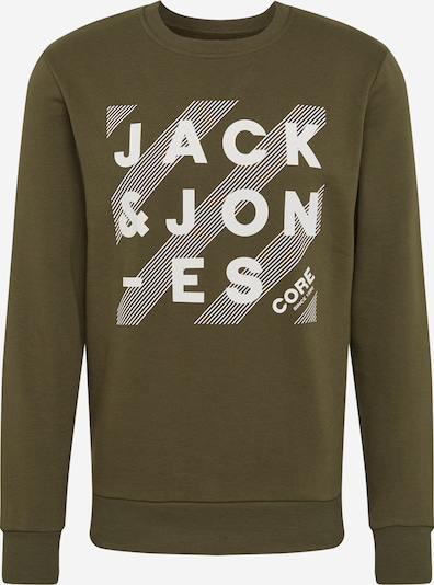 JACK & JONES Sweat-shirt 'HERO' en kaki / blanc, Vue avec produit
