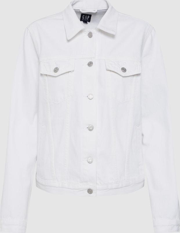 GAP Jacke 'ICON JKT OPTIC Weiß' in weiß  Große Preissenkung