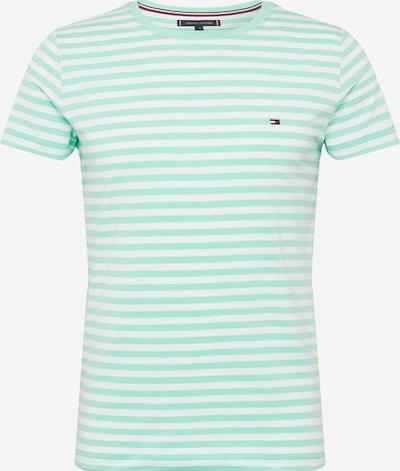 TOMMY HILFIGER T-Shirt in mint / weiß, Produktansicht