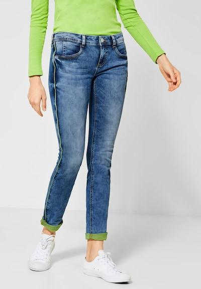 STREET ONE Jeans 'Crissi' in blau / grün, Modelansicht