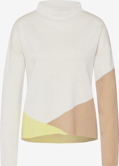 Someday Pullover 'Tamaya SQ 2' in sand / braun / gelb / wollweiß, Produktansicht
