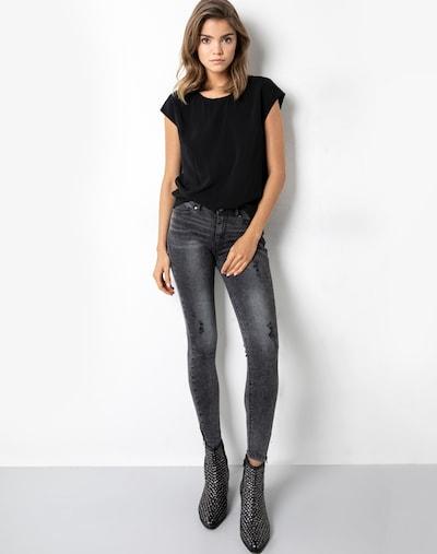 tigha T-Shirt 'Linja' in schwarz, Produktansicht
