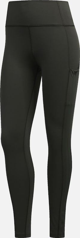 ADIDAS PERFORMANCE Leggings '3S' in dunkelgrün: Frontalansicht
