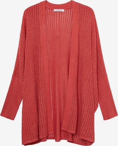 VIOLETA by Mango Gebreid vest 'Estoril' in de kleur Rood, Productweergave