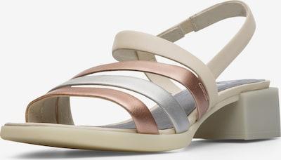 CAMPER Sandale 'Twins' in beige / bronze / silber, Produktansicht