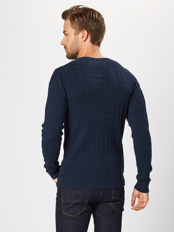 JACK & JONES Pullover 'JPRRICHARD KNIT CREW NECK NOOS' in navy: Rückansicht