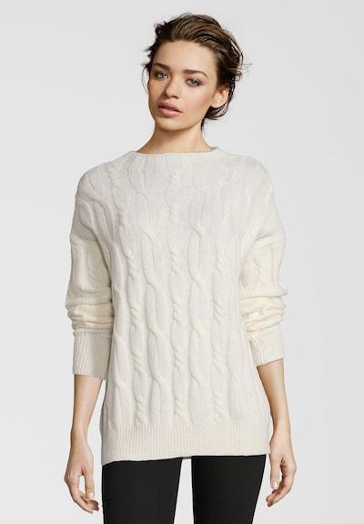 Frogbox Pullover mit Zopfstrick Muster in weiß, Produktansicht
