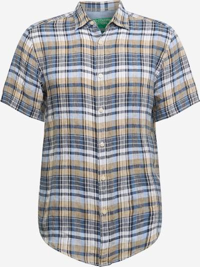 UNITED COLORS OF BENETTON Overhemd in de kleur Beige / Blauw / Grijs: Vooraanzicht