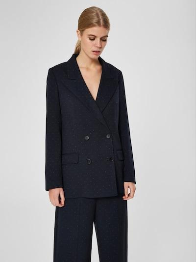 SELECTED FEMME Blazer in nachtblau / weiß, Modelansicht
