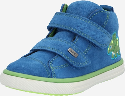 LURCHI Sneaker 'Morty-Tex' in royalblau / grün: Frontalansicht