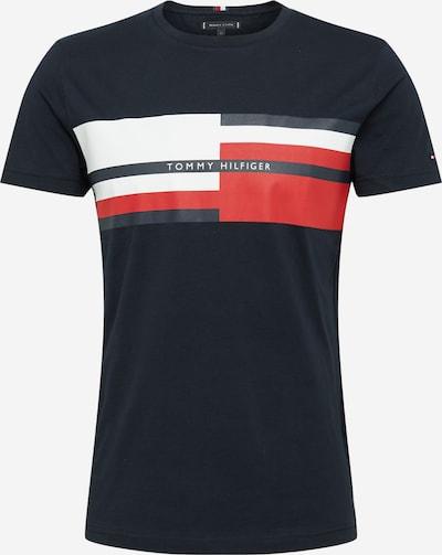 TOMMY HILFIGER T-Shirt in dunkelblau / rot / weiß, Produktansicht