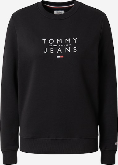 Megztinis be užsegimo 'TJW ESSENTIAL LOGO SWEATSHIR' iš Tommy Jeans , spalva - juoda, Prekių apžvalga