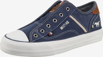 MUSTANG Sneaker in blau / weiß, Produktansicht