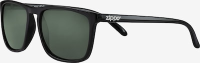 ZIPPO Sonnenbrille eckig slim 'Green Flash' in schwarz, Produktansicht