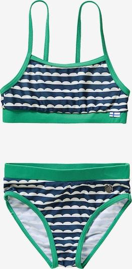 FINKID Bikini in türkis / dunkelblau / perlweiß, Produktansicht