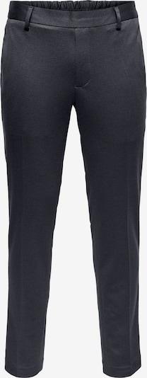 Only & Sons Pantalon à plis en bleu, Vue avec produit