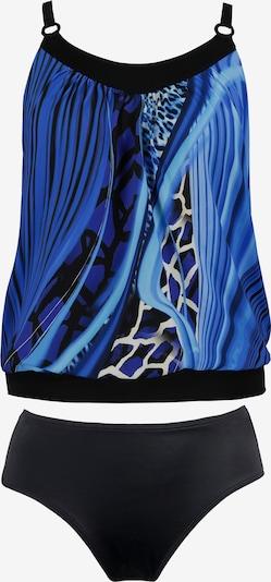 Ulla Popken Tankiny 'Giraffe' - modrá / černá / bílá, Produkt