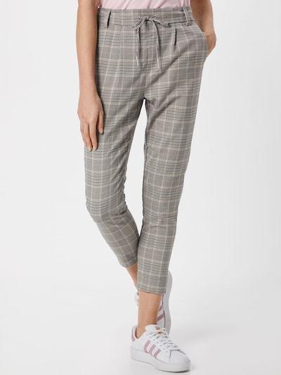 szürke / fehér ONLY Élére vasalt nadrágok 'POPTRASH', Modell nézet