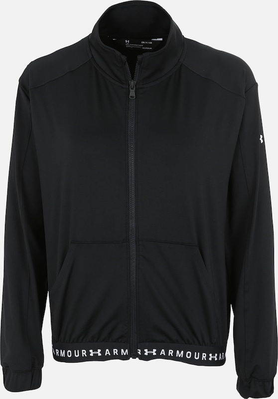 UNDER ARMOUR Trainingsjacke in schwarz / weiß, Produktansicht